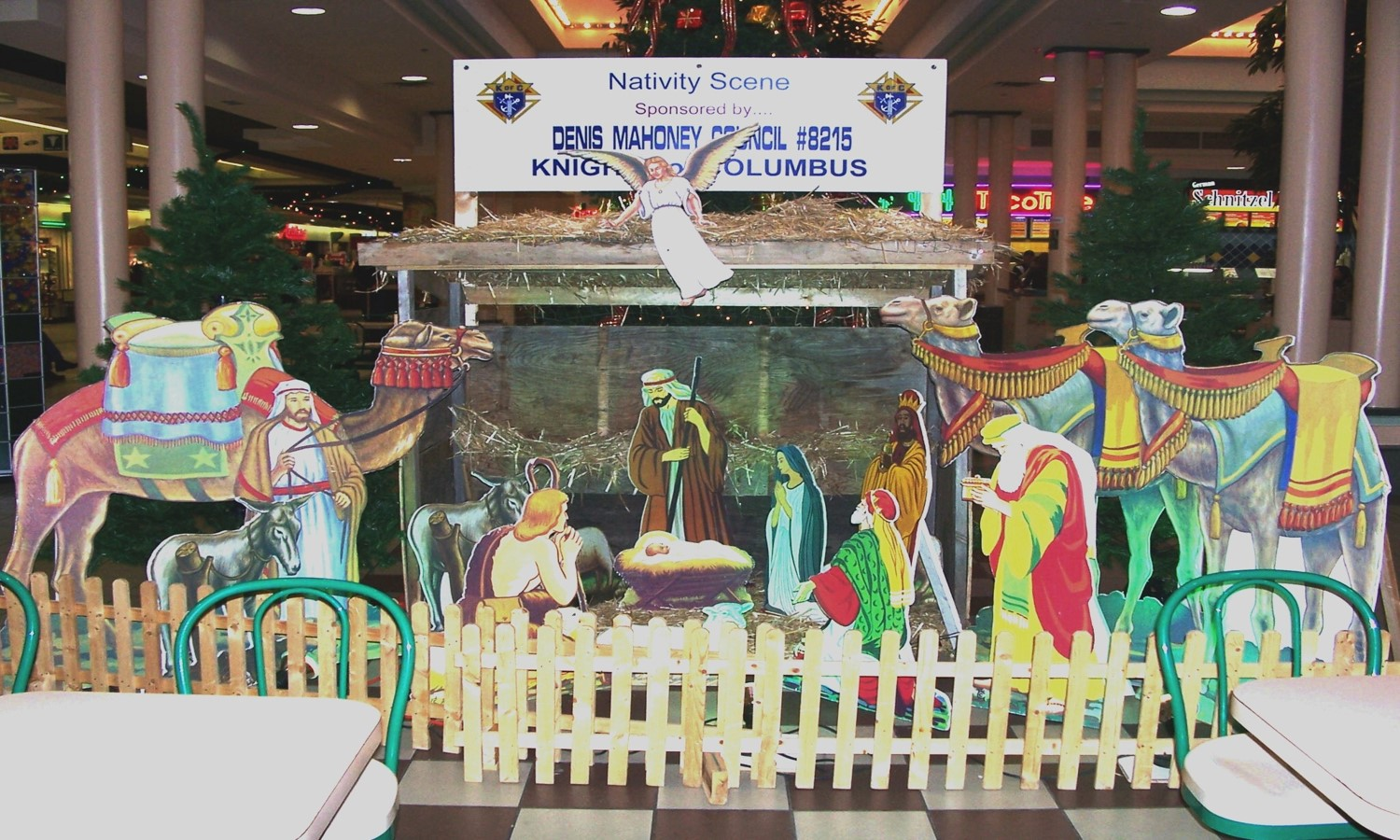 zOur Council's Nativity Set at Market Mall in 2006.